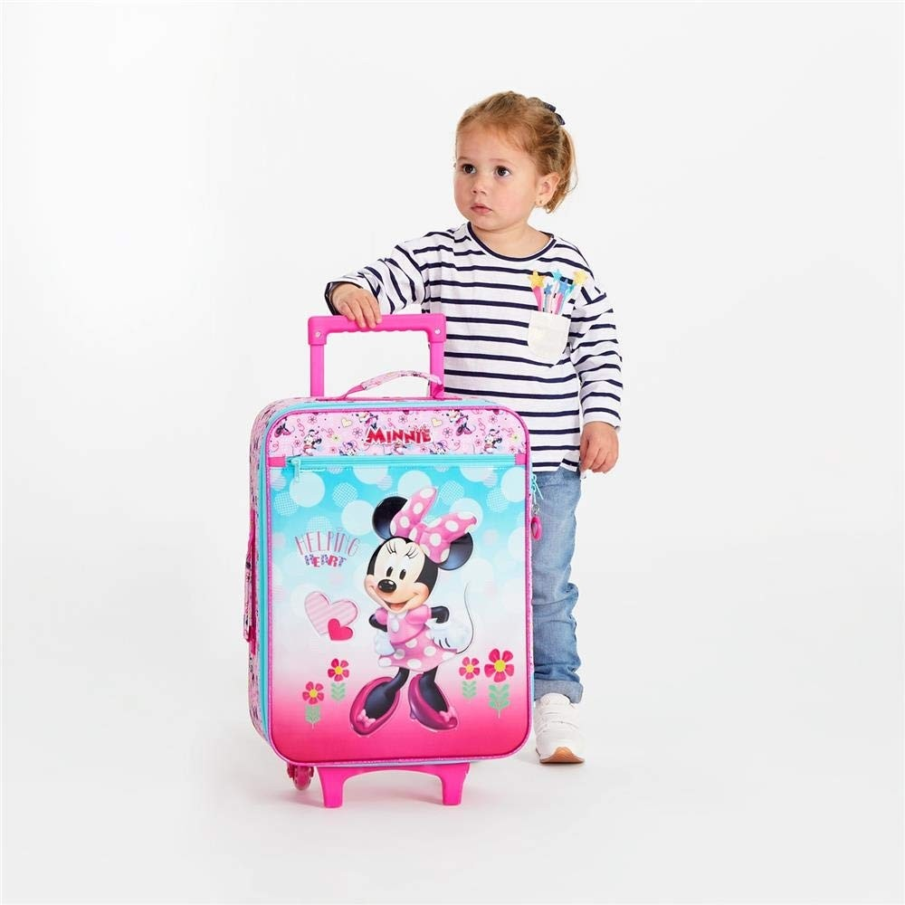 Trolley Valigia morbida Disney Minnie Heart