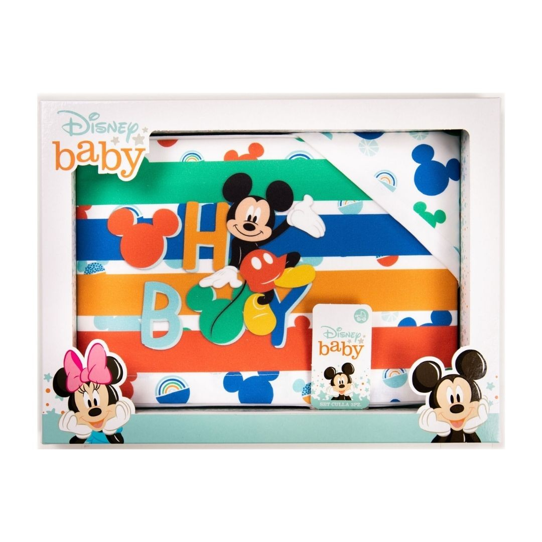 Set Lenzuola Lettino Mickey Mouse Oh Boy Ellepi