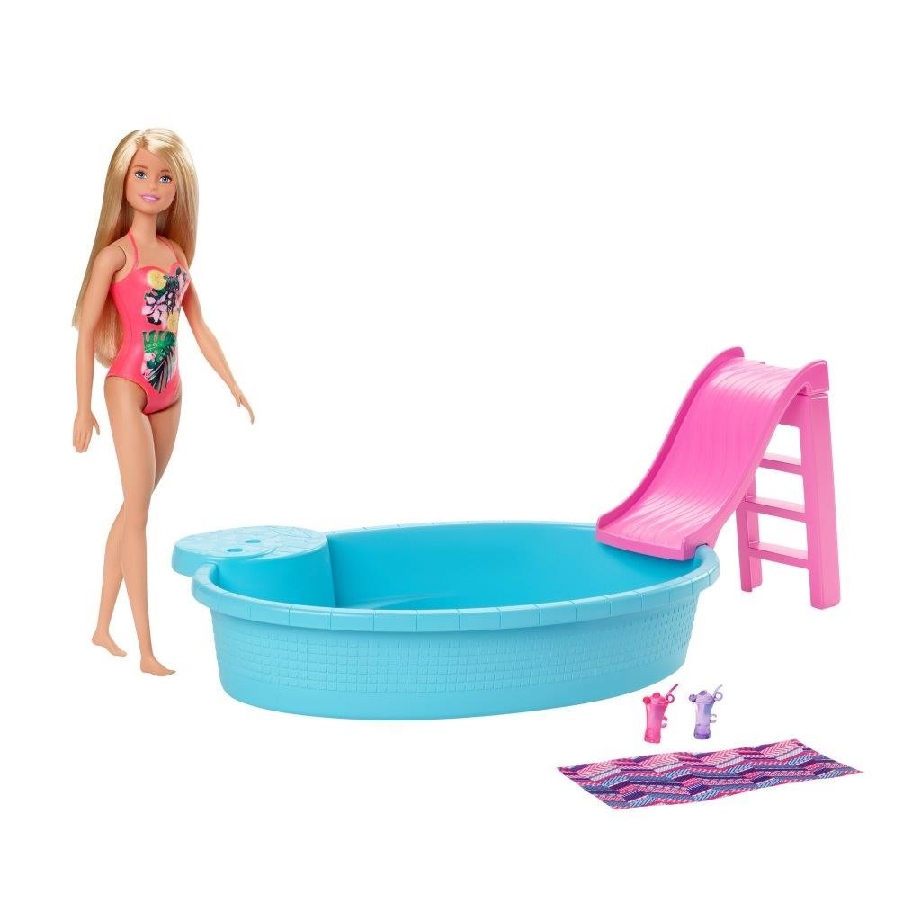 Barbie Playset Bambola con Piscina e Accessori
