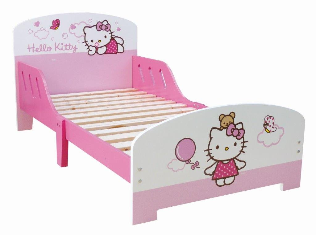 hello kitty lettino in legno toctocshop. Black Bedroom Furniture Sets. Home Design Ideas