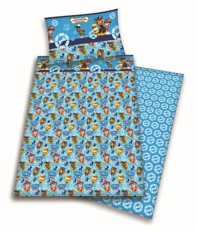 Paw patrol completo lenzuola letto singolo azzurro - Completo lenzuola letto singolo ...