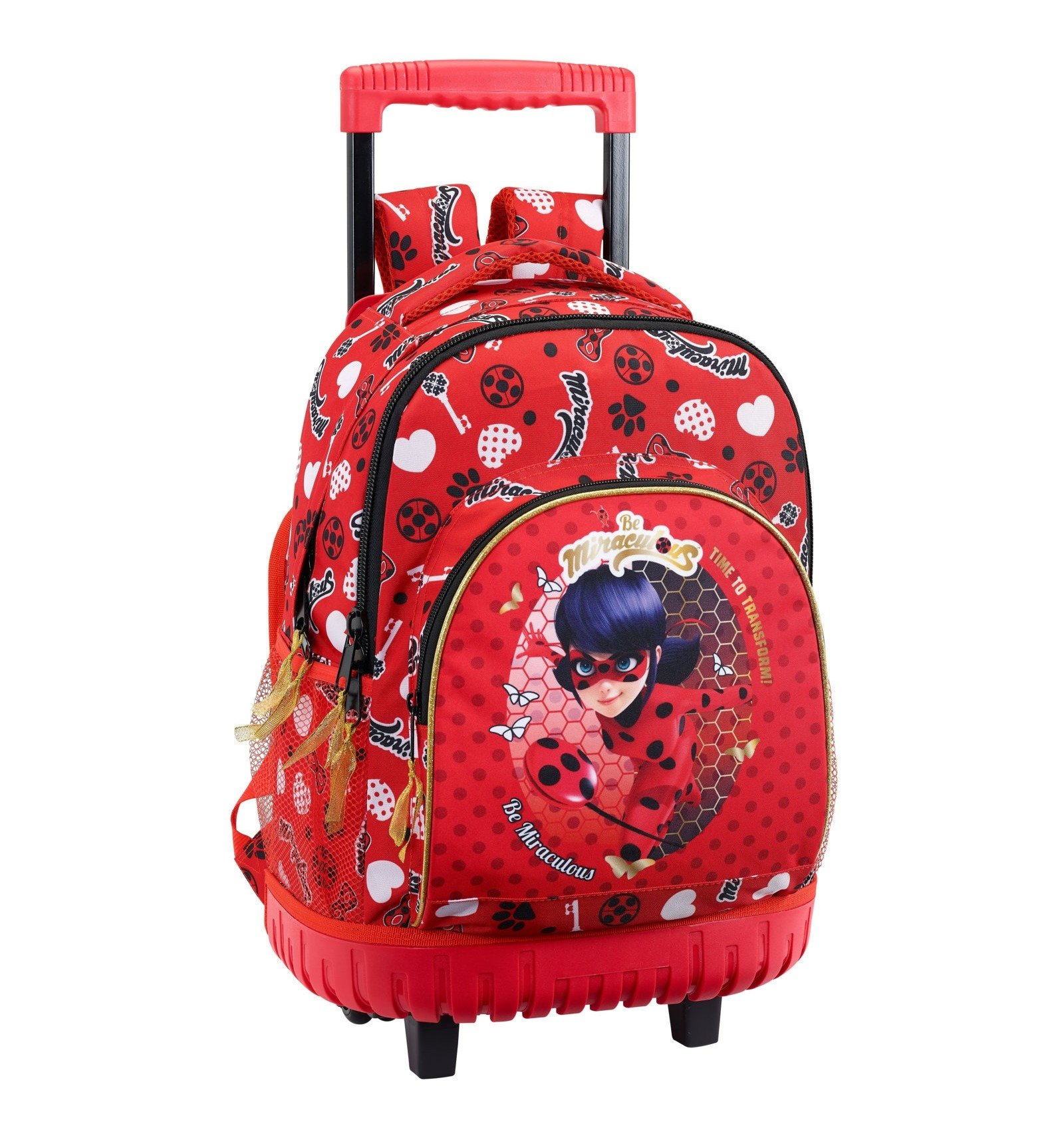 a32511bfd3 Miraculous Ladybug Zaino Trolley Scuola Elementare