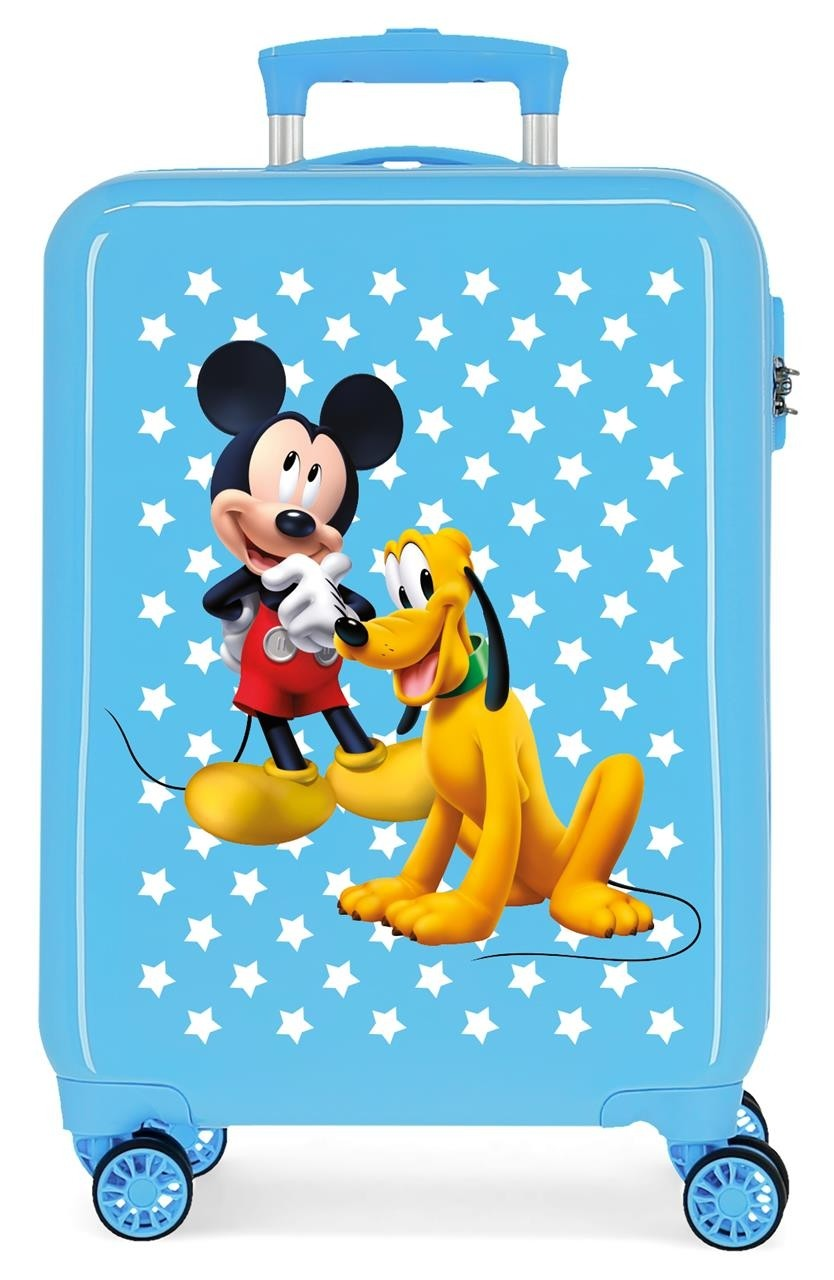 Trolley in ABS Mickey e Pluto Azzurro