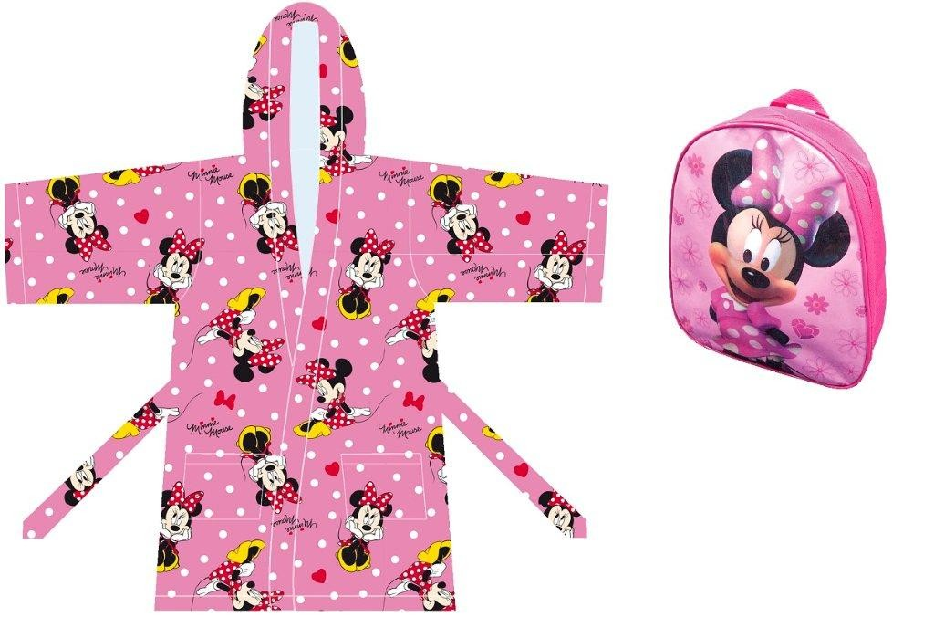 Disney Minnie Set Regalo Caleffi Accappattoio con Zainetto
