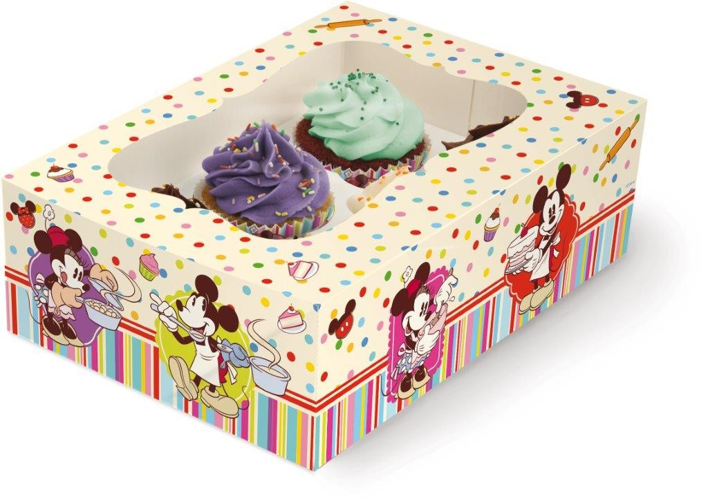 Scatola Regalo per 6 Cupcakes Mickey Mouse Disney Cake Design