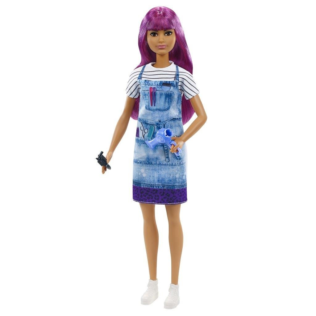 Barbie Bambola Parrucchiera con capelli viola You can Be Anything