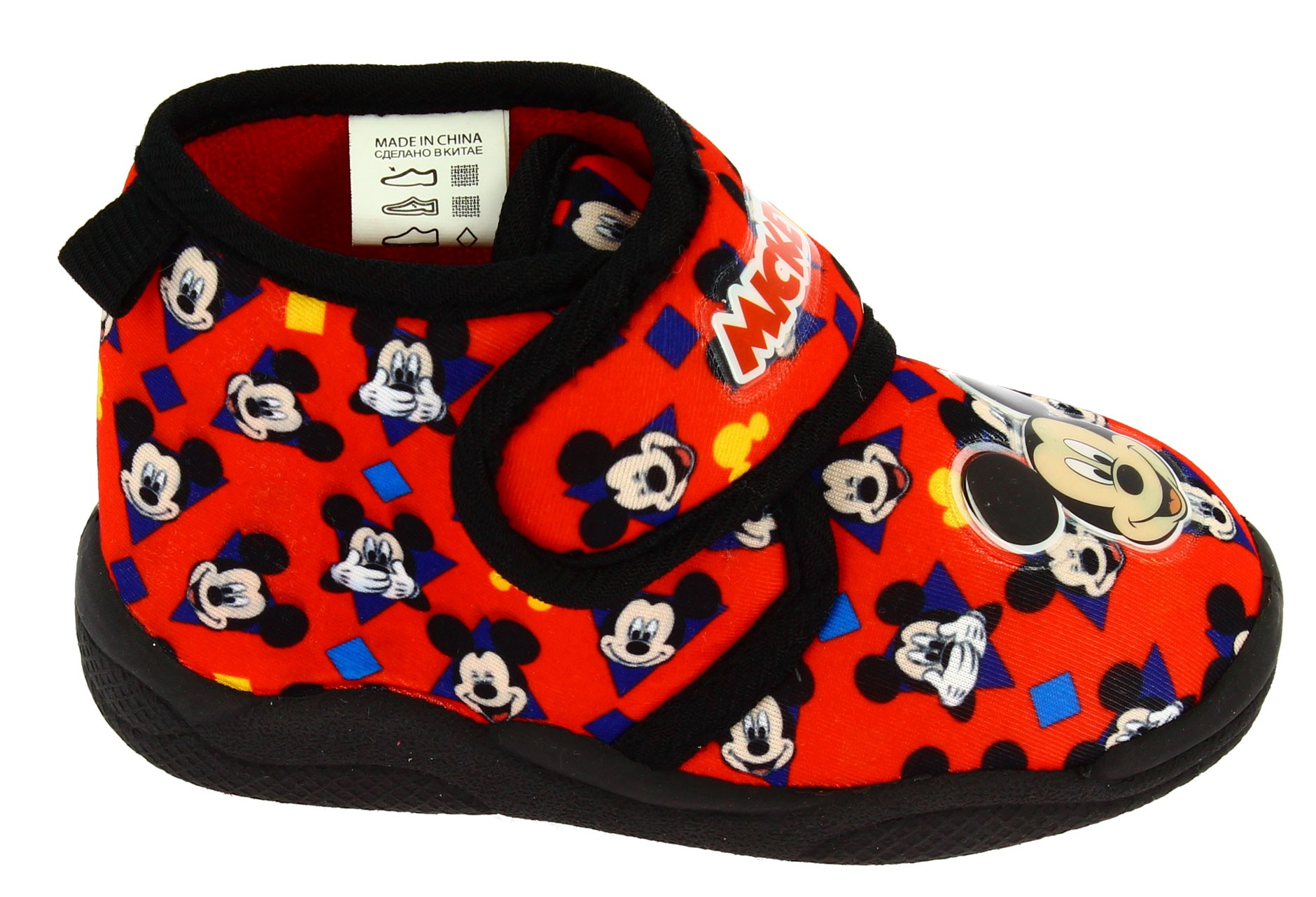 Pantofola con strappi Mickey Mouse Rosso