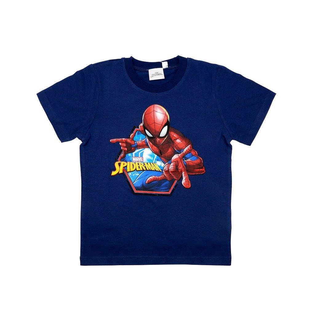 T Shirt Manica corta Blu Spiderman