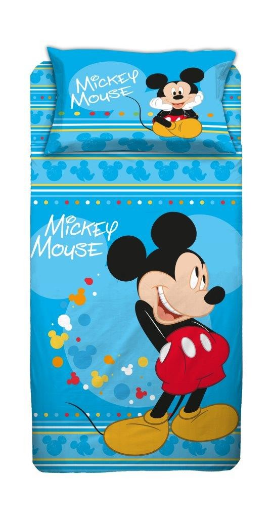 Mickey Mouse Completo Lenzuola in Cotone