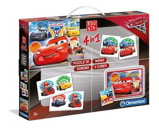 Clementoni Edukit 4 in 1 Cars 3