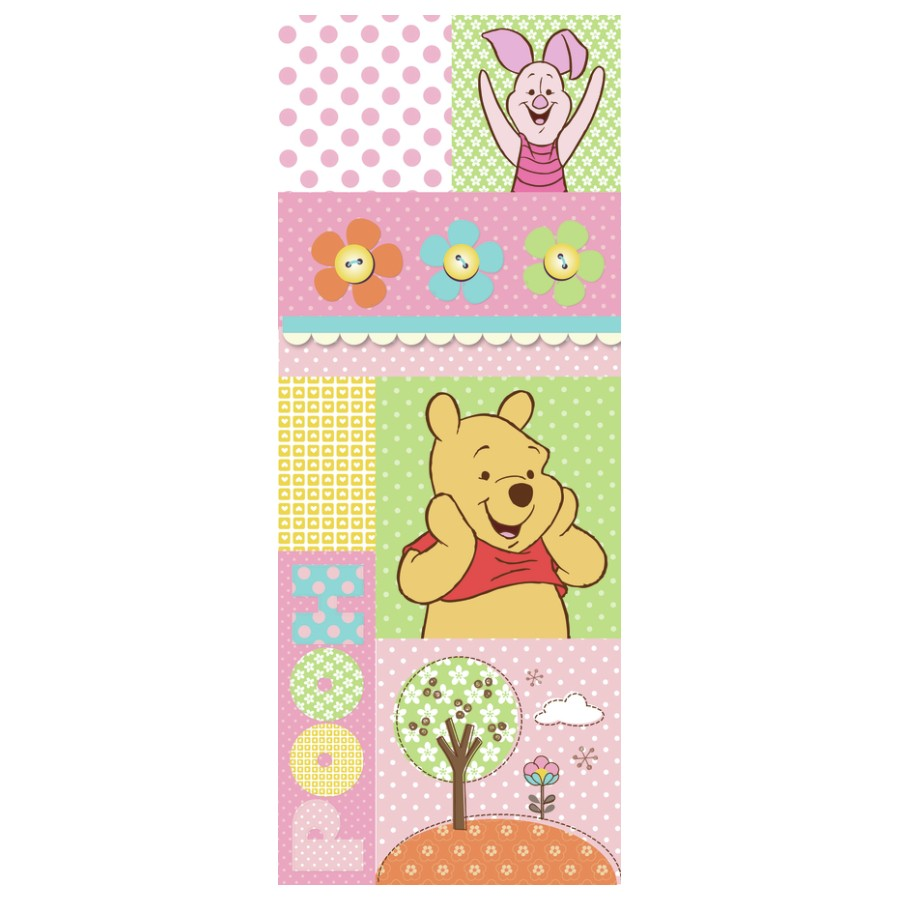 HomeDecor Decorazione Adesiva per Porte Winnie the Pooh And Pig