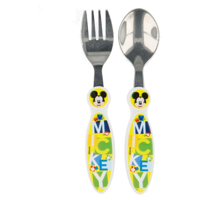 Set 2 posate in metallo Mickey Mouse