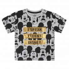T Shirt Bambino Mickey Mouse I Speak Fluent Disney