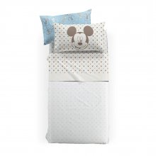 Completo Lenzuola Mickey Mouse Natural Disney by Caleffi Letto Singolo