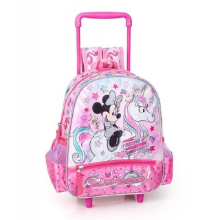Zaino Trolley Asilo Disney Minnie Unicorno