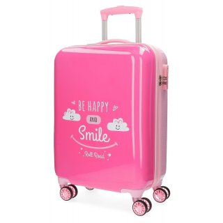 Valigia Trolley in ABS 55 cm Be Happy Rosa