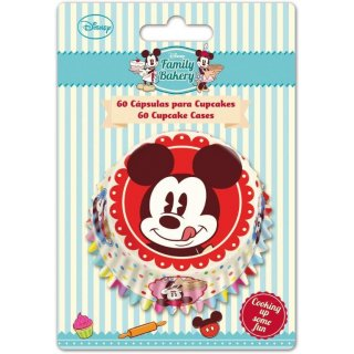 Set di 60 Pirottini per Cupcakes Mickey Mouse Family Disney Cake Design