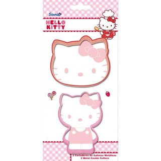 Hello Kitty Set di 2 Formine per Biscotti in Metallo