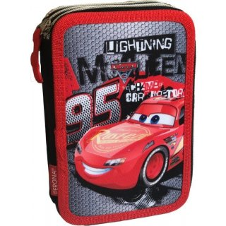 Astuccio 3 Zip completo di accessori Disney Cars