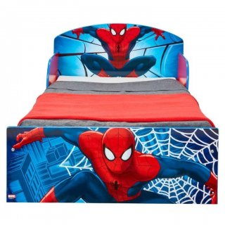 Lettino in Legno con sponde Spiderman