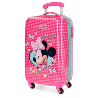 Valigia Trolley Rigido in Abs 55 cm Disney Minnie Cuori