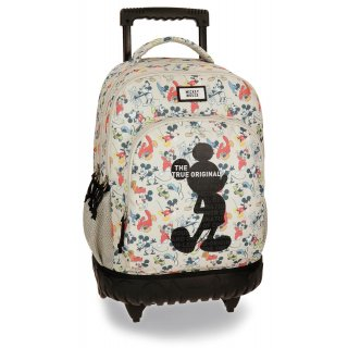 Trolley Zaino Scuola a 2 ruote Mickey Mouse True Original