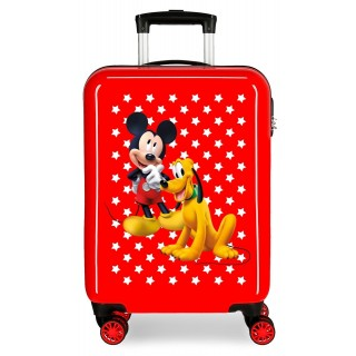 Trolley in ABS Mickey e Pluto Rosso