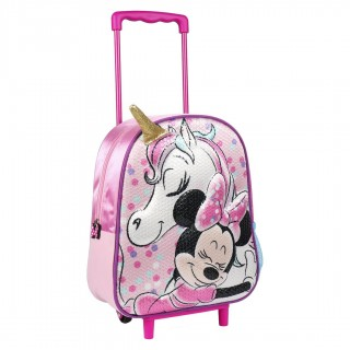 Zaino Trolley Asilo Minnie Unicorno 3D