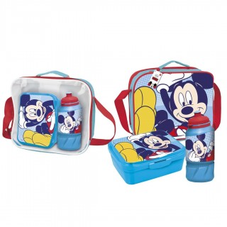 Set portamerenda con accessori Mickey Mouse