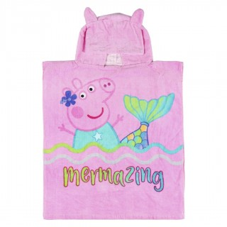 Poncho in cotone Peppa Pig