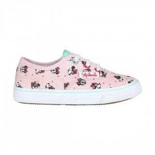 Sneakers in tela con lacci Minnie Rosa