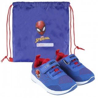 Sneakers in Tela Spiderman con Sacca Scarpe
