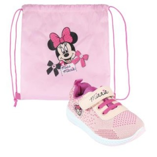 Sneakers in Tela Minnie con Sacca Scarpe