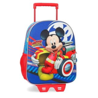 Zaino Trolley Asilo Mickey Mouse con Carrello Removibile