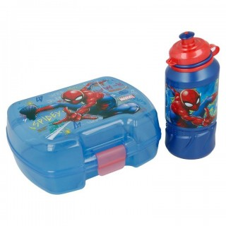 Set Borraccia e Portamerenda Spiderman Blu