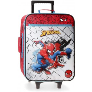 Valigia Morbida Spiderman 50 cm Fololuminiscente