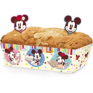 Set di 6 Stampi in Carta per Torte Mickey Mouse Disney Cake Design