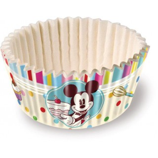 Set di 60 Pirottini per Mini Cupcakes Mickey Mouse Family Disney Cake Design