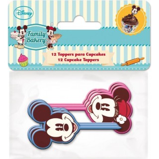 Set 12 Decorazioni Colorate Mickey e Minnie Disney Cake Design