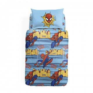 Completo Copripiumino Letto Singolo Spiderman New York Caleffi