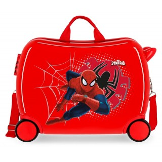 Valigia Cavalcabile Spiderman Tech Rossa