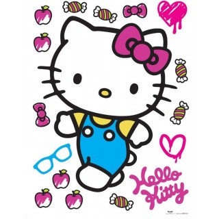 Hello Kitty Decorazione Adesiva 65x85cm