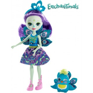 Enchantimals Bambola Patter con Pavone