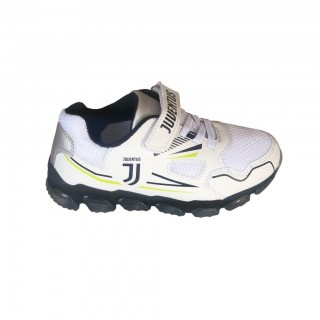 Scarpa Training Juvents Bianco e Fluo