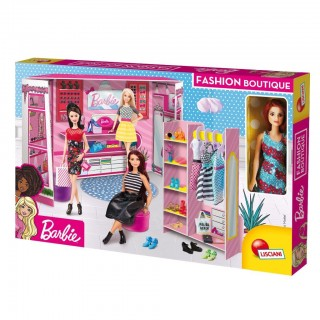 Lisciani Barbie fashion boutique in display