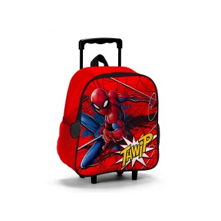 Zaino e Trolley Asilo Spiderman Rosso