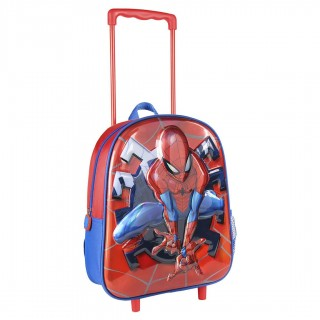 Trolley Asilo Spiderman Rosso e Blu