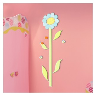 HomeDecor-LineKids Decorazioni Metro Crescita Smiling Flowers