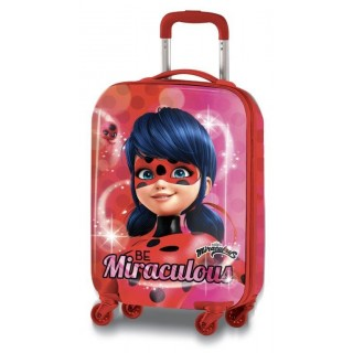 Valigia Trolley in ABS 53cm Miraculous LadyBug