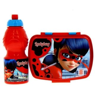 Set Borraccia e  Porta Merenda Miraculous Lady Bug
